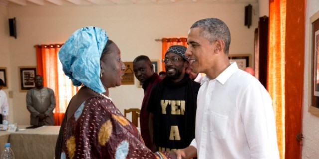 Mme Safietou Diop Fall et Barack Obama Juin 2013 Goree Institute