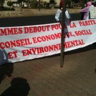 Marche de protestation concernant le nombre minime de femmes au Conseil économique, social et environnemental (2013).