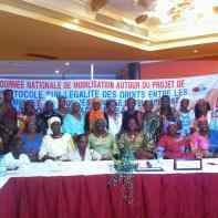 Journée nationale de mobilisation autour du projet de Protocole sur l'égalité des droits entre les femmes et les hommes dans l'espace CEDEAO. Septembre 2013